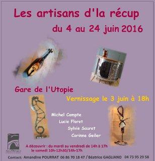 """Exposition gratuite """"Les artisans d'la récup'"""""""