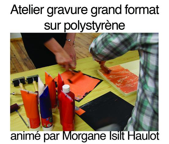 Atelier  - Gravure sur Polystyrène (grand format)