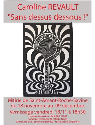 """EXPOSITION Caroline Revault """"Sans desssus dessous ! """""""