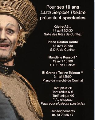 Le Lazzi Serpolet Théâtre fête ses 10 ans
