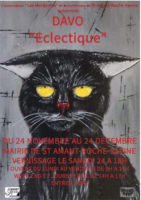 "EXPOSITION de peintures ""ECLECTIC"" de stéphane DAVO"