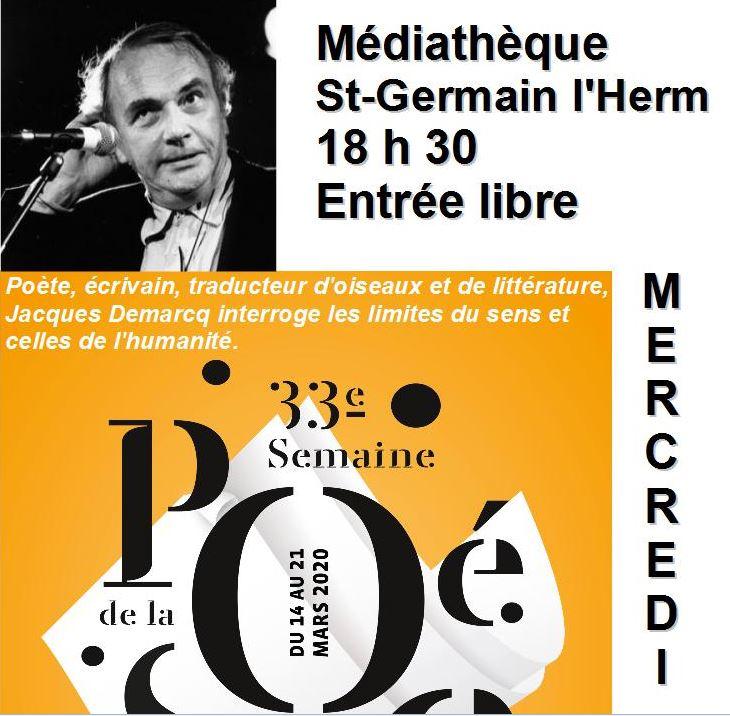 Poésie avec Jacques Demarcq